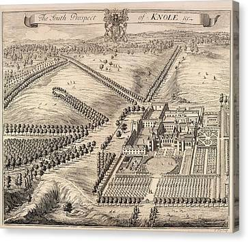 View Of Knole Canvas Print by British Library