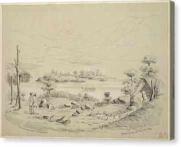 View Of Lake Rotomahana Canvas Print by British Library