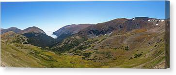 View Of Landscape From Alpine Visitor Canvas Print
