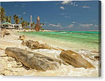 View Of Lighthouse On Half Moon Caye Canvas Print