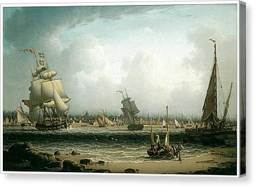 View Of Liverpool Canvas Print by Robert Salmon