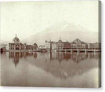 Lucerne Canvas Print - View Of Lucerne And Mount Pilatus, Giorgio Sommer by Artokoloro