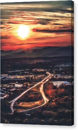 View Of Lynchburg Canvas Print