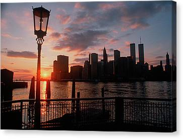 View Of Manhattan From The Brooklyn Canvas Print