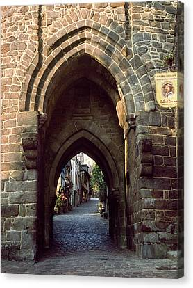 View Of Medieval Gate In Dinan Canvas Print