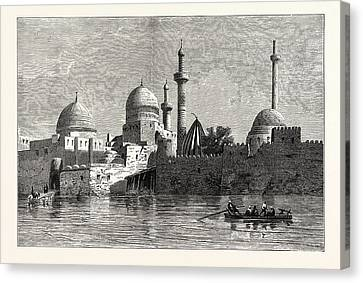 View Of Mosul From The Tigris. Baghdad Canvas Print