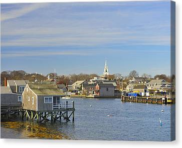 View Of Nantucket From The Harbor Canvas Print