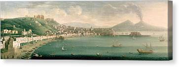 Graf Canvas Print - View Of Naples From The West, 1730 by Gaspar Butler