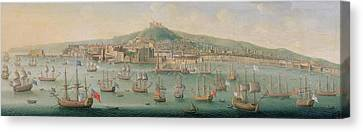 Italian Landscapes Canvas Print - View Of Naples by Gaspar Butler
