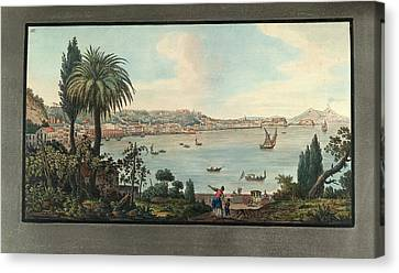 View Of Naples With Mt. Vesuvius Canvas Print by British Library