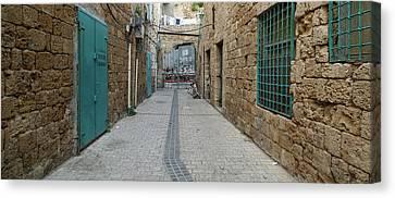 View Of Narrow Alley, Acre Akko, Israel Canvas Print