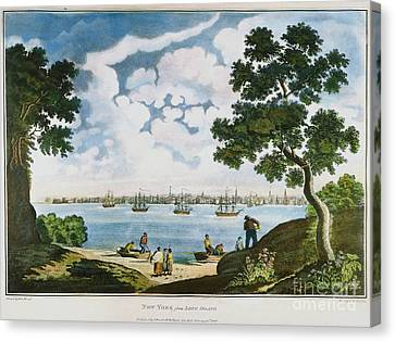 View Of New York 1801 Canvas Print by Granger