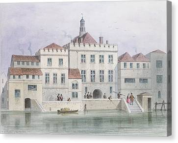 View Of Old Fishmongers Hall, 1650 Wc On Paper Canvas Print
