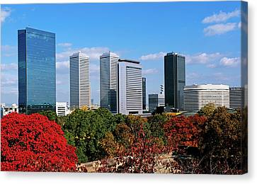 View Of Osaka Business Park In Autumn Canvas Print by Panoramic Images