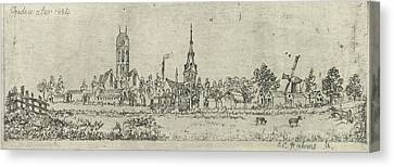 View Of Oudewater, The Netherlands, Eberhard Cornelis Rahms Canvas Print by Eberhard Cornelis Rahms