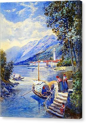 View Of Pallanza On Lago Di Maggiore Canvas Print by Celestial Images