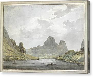 View Of Papetoai Bay Canvas Print by British Library