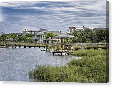View Of Pawleys From The Creek Canvas Print by Sandra Anderson
