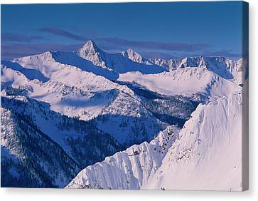 View Of Pfeifferhorn From The Big Canvas Print