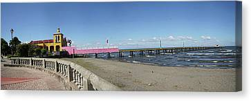 View Of Pier On Beach, Lake Nicaragua Canvas Print by Panoramic Images