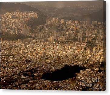 Canvas Print featuring the photograph View Of Quito From The Teleferiqo by Eleanor Abramson