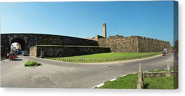 View Of Rampart Around Galle And New Canvas Print