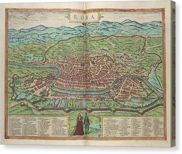 View Of Rome Canvas Print by British Library