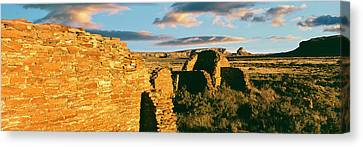 View Of Ruins Of Hungo Pavi, Chaco Canvas Print by Panoramic Images