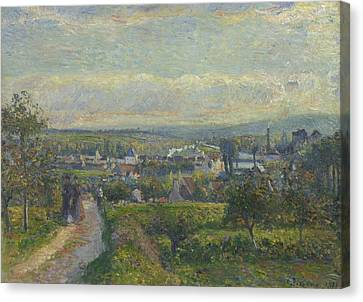 View Of Saint Ouen L Aumone, 1876 Canvas Print