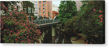 View Of San Antonio River Walk, San Canvas Print