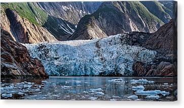 View Of Sawyer Glacier, Southeast Canvas Print