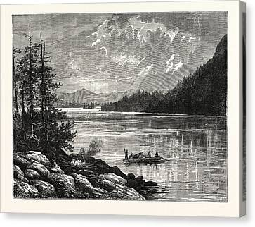 Vancouver Canvas Print - View Of Sooke Lake by English School