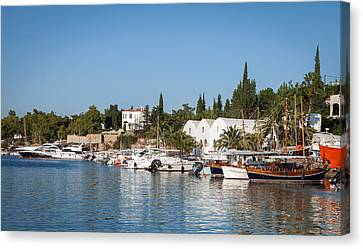 View Of Spetses Harbour Canvas Print