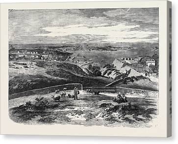 View Of St. Peter Port Guernsey Taken Above Fort George Canvas Print