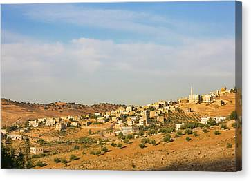 View Of Suburban Area Of Amman, Jordan Canvas Print by Keren Su