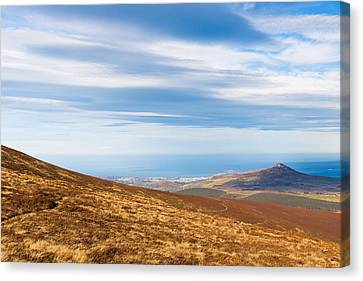 View Of Sugar Loaf From Djouce Mountain Canvas Print