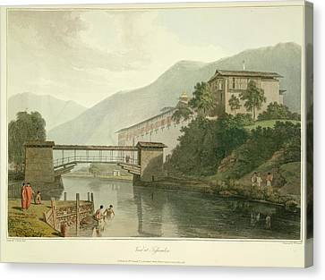 View Of Tassisudon Canvas Print by British Library