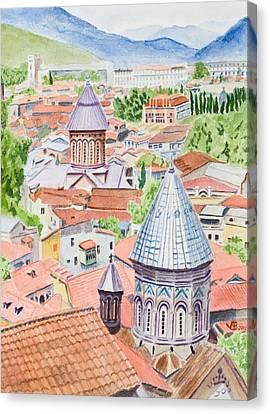 View Of Tbilisi-republic Of Georgia Canvas Print