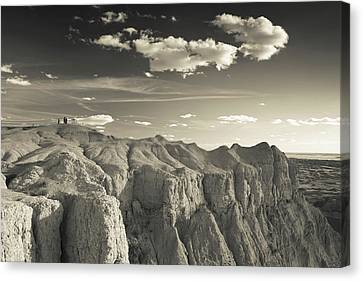 View Of The Badlands National Park Canvas Print by Panoramic Images