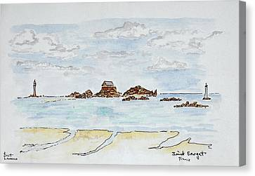View Of The Bay And Atlantic Ocean Canvas Print