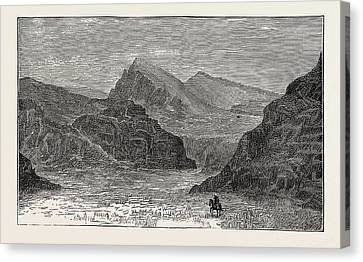 View Of The Bolan Pass Canvas Print by English School
