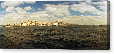 View Of The Bosphorus Strait, Istanbul Canvas Print by Panoramic Images