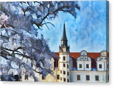 View Of The Castle Canvas Print by Gynt