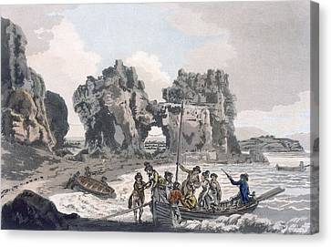 View Of The Castle Rock Canvas Print by J. & Ibbetson, J.C. Hassell