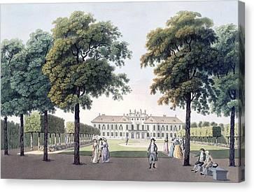 Pleasure Canvas Print - View Of The Chateau Of Pleasure by Laurenz Janscha