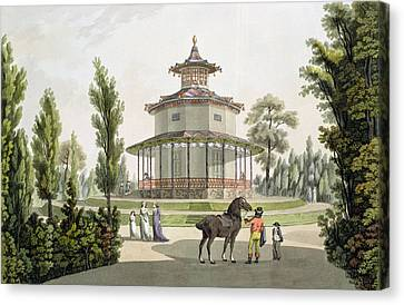 View Of The Chinese Summer House Canvas Print by Laurenz Janscha