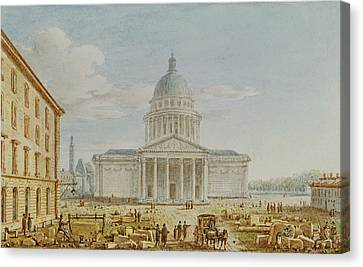 View Of The Church Of St. Genevieve, The Pantheon, 18th-19th Century Wc On Paper Canvas Print