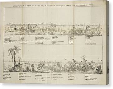 View Of The City Of Calcutta Canvas Print by British Library
