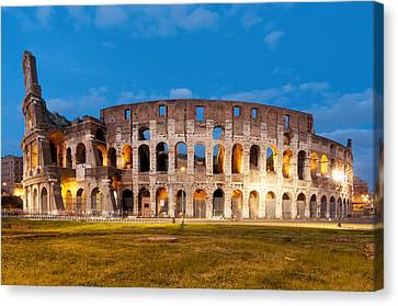 View Of The Colosseum Canvas Print