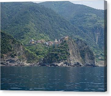 View Of The Corniglia, La Spezia Canvas Print